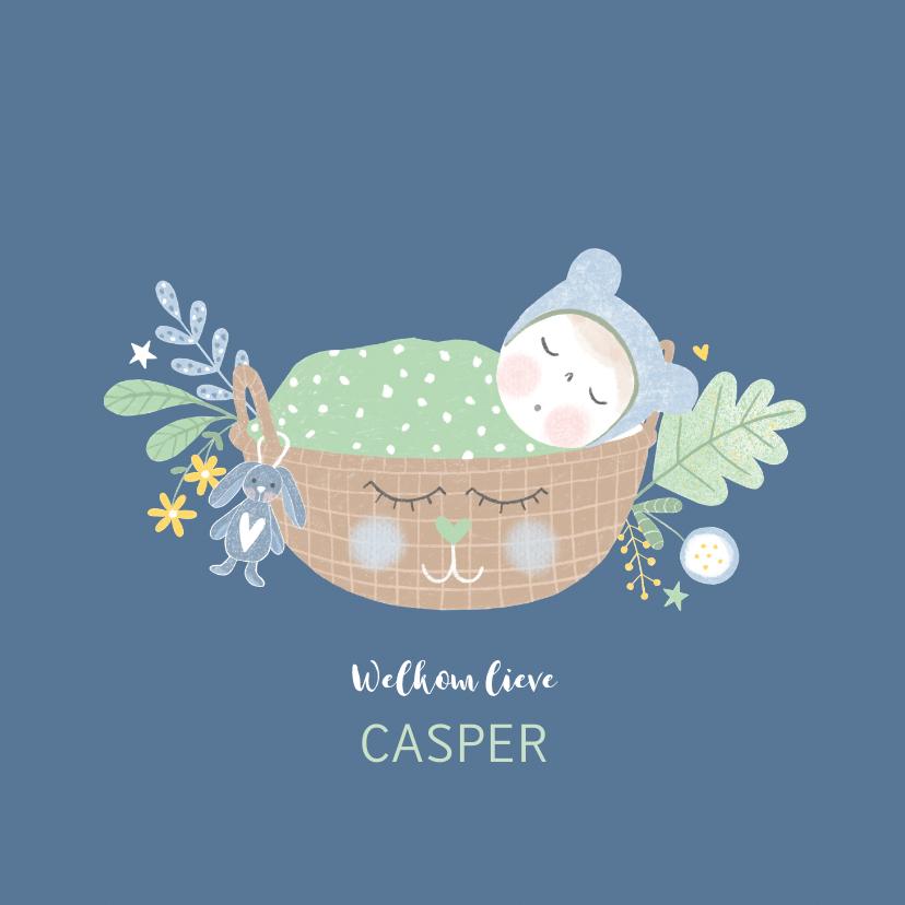 Felicitatiekaarten - Felicitatie zoon baby blauw
