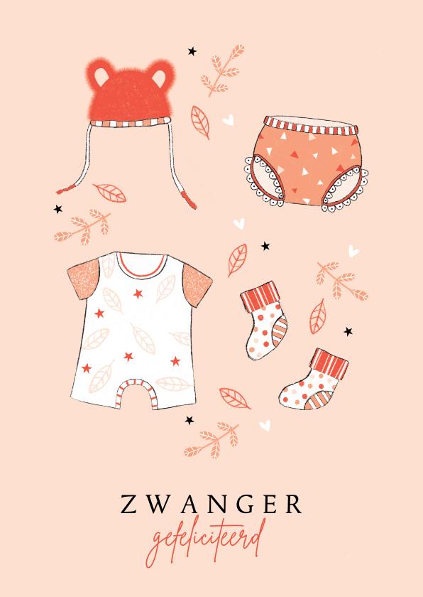 Felicitatiekaarten - Felicitatie zwanger babykleertjes