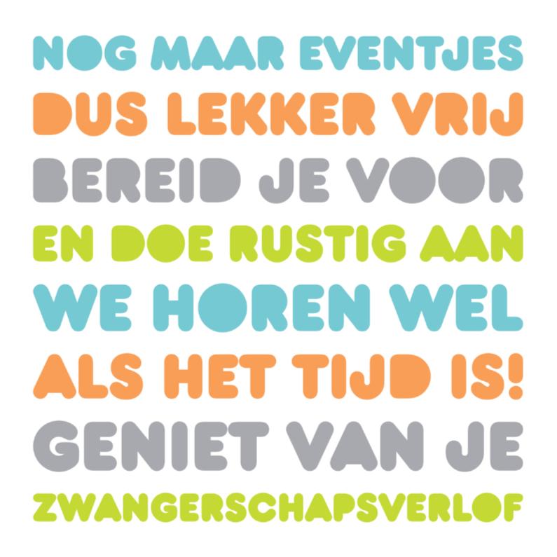 Felicitatiekaarten - Felicitatie Zwanger Letters