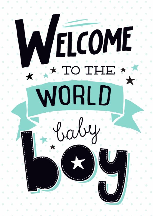 Felicitatiekaarten - Felicitatiekaart Baby boy-99