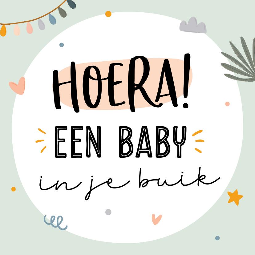 Felicitatiekaarten - Felicitatiekaart baby in je buik