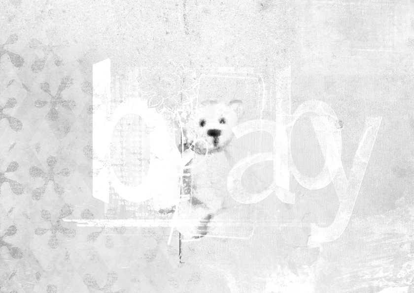 Felicitatiekaarten - Felicitatiekaart Baby Teddybeer