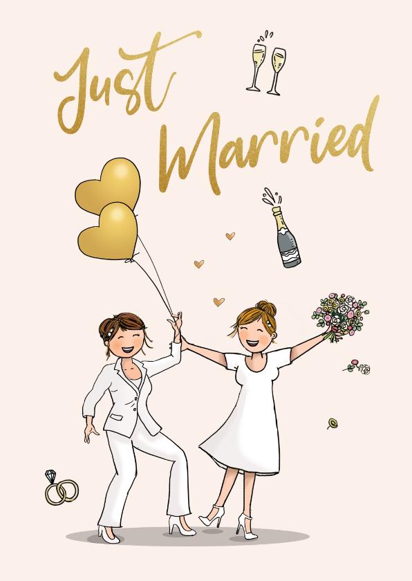 Felicitatiekaarten - Felicitatiekaart dansend bruidspaar