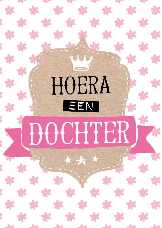 Felicitatiekaarten - Felicitatiekaart Dochter kroon