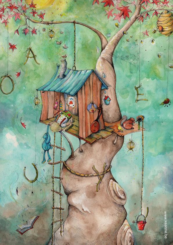 Felicitatiekaarten - Felicitatiekaart een eigen droomhuis