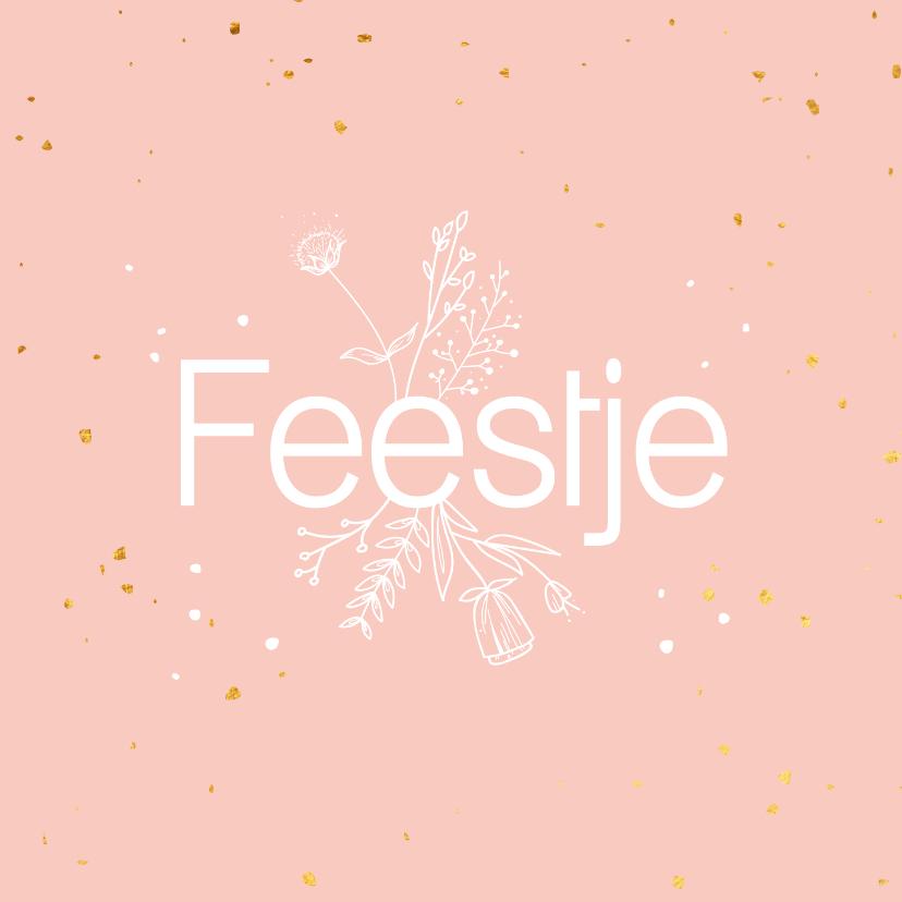 Felicitatiekaarten - Felicitatiekaart - Feestje - flowers