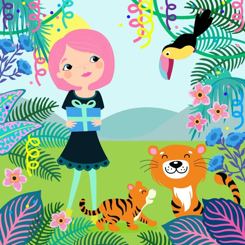 Felicitatiekaarten - Felicitatiekaart geboorte in jungle thema