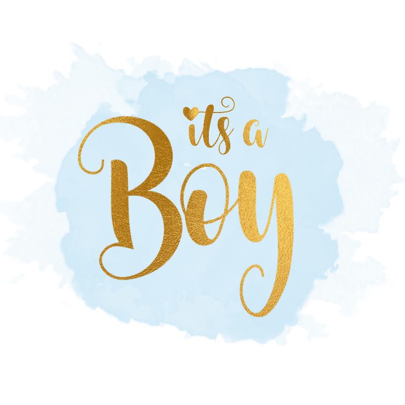Felicitatiekaarten - Felicitatiekaart geboorte it's a boy