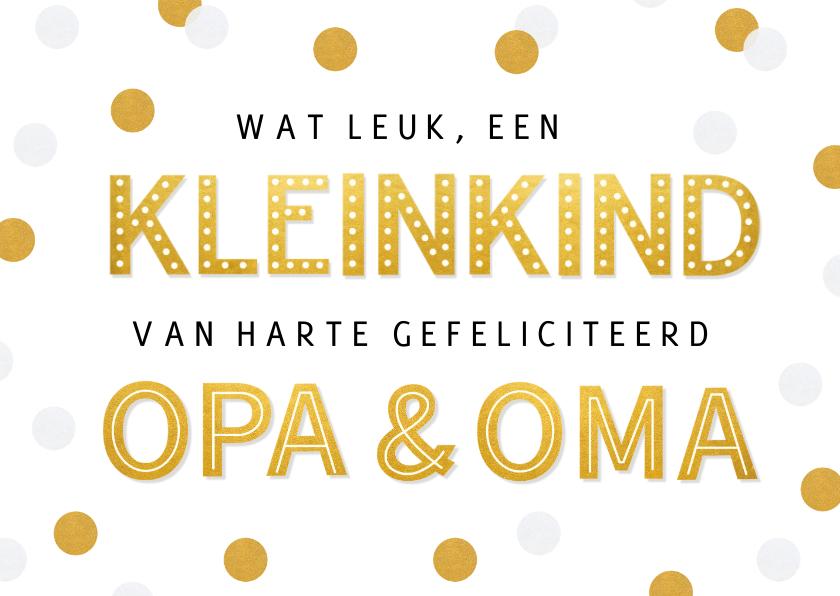 Felicitatiekaarten - Felicitatiekaart geboorte kleinkind - opa & oma confetti