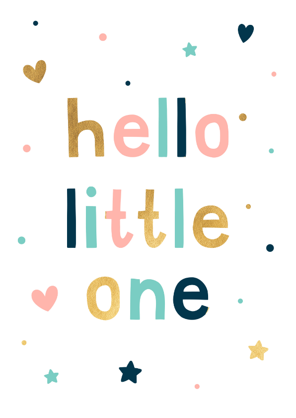 Felicitatiekaarten - Felicitatiekaart hello little one