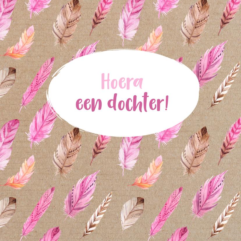 Felicitatiekaarten - Felicitatiekaart hoera een dochter