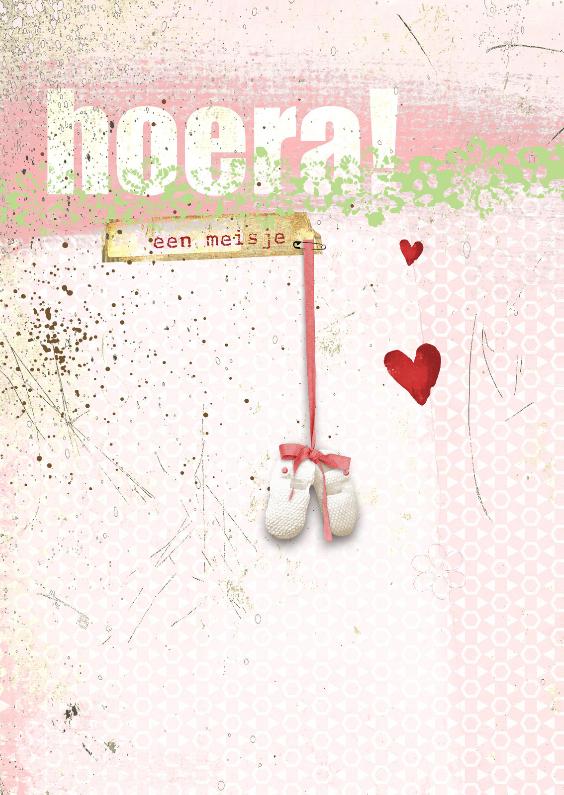 Felicitatiekaarten - Felicitatiekaart Hoera Een Meisje