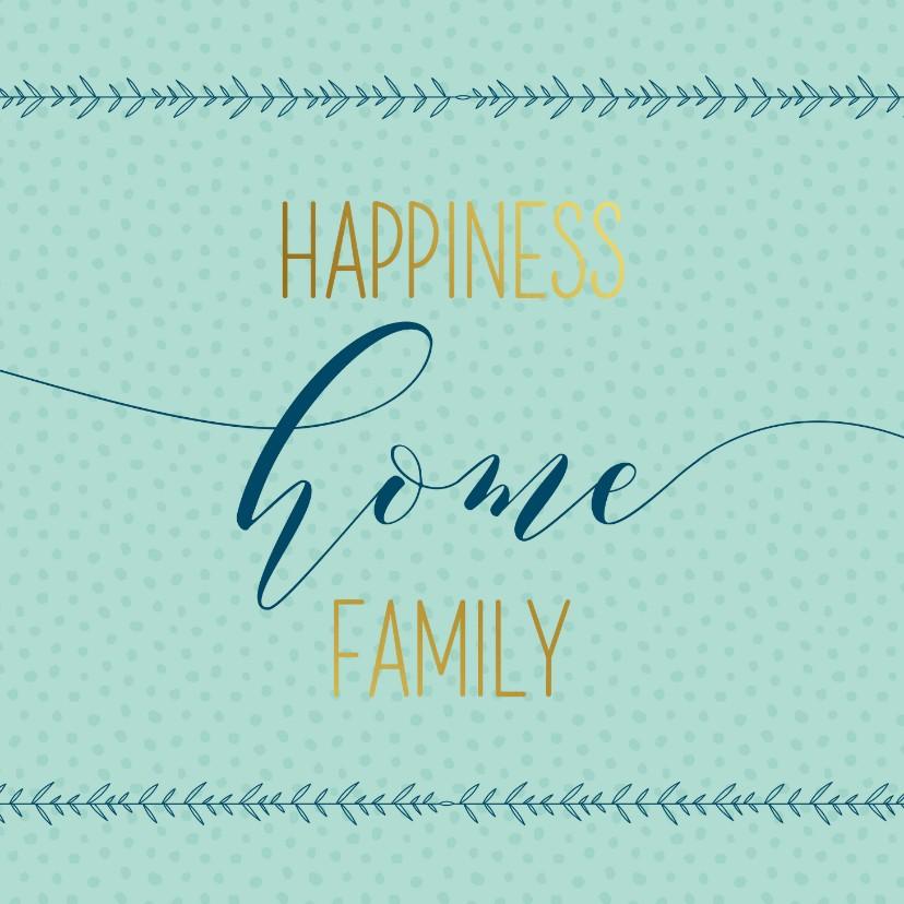 Felicitatiekaarten - Felicitatiekaart home family