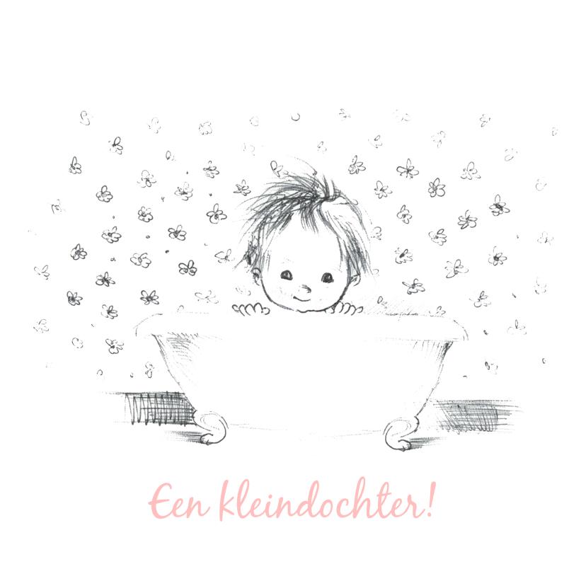 Felicitatiekaarten - Felicitatiekaart kleinkind baby in badkuip