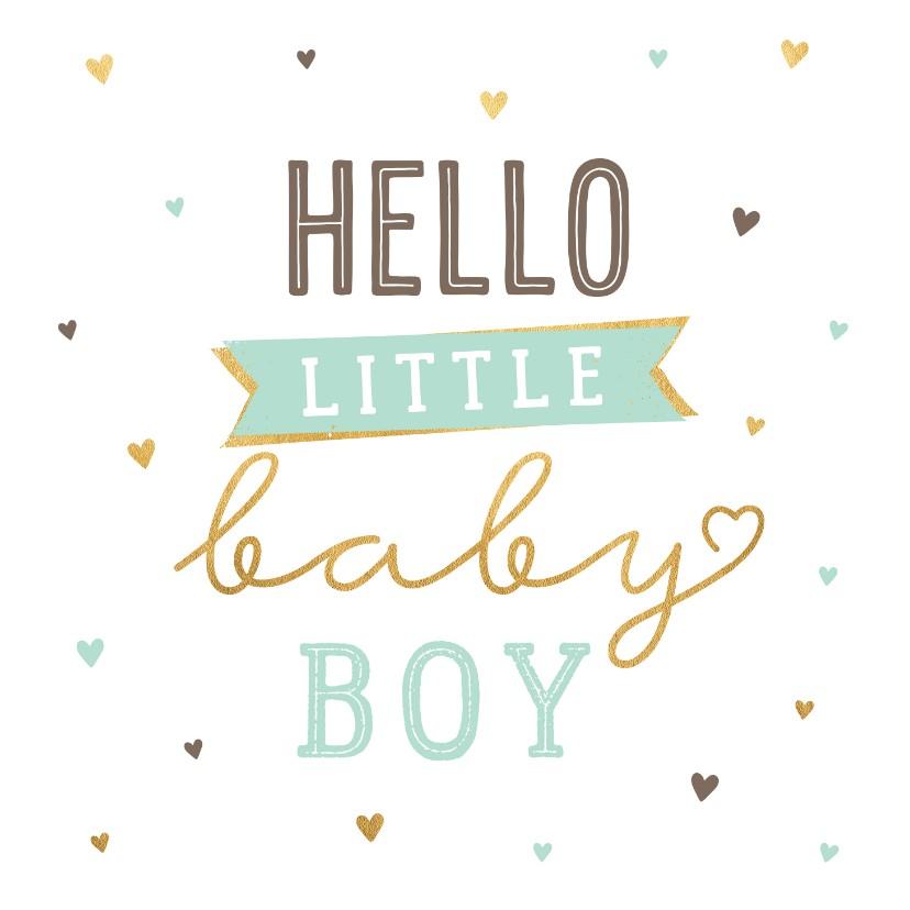 Felicitatiekaarten - Felicitatiekaart little boy