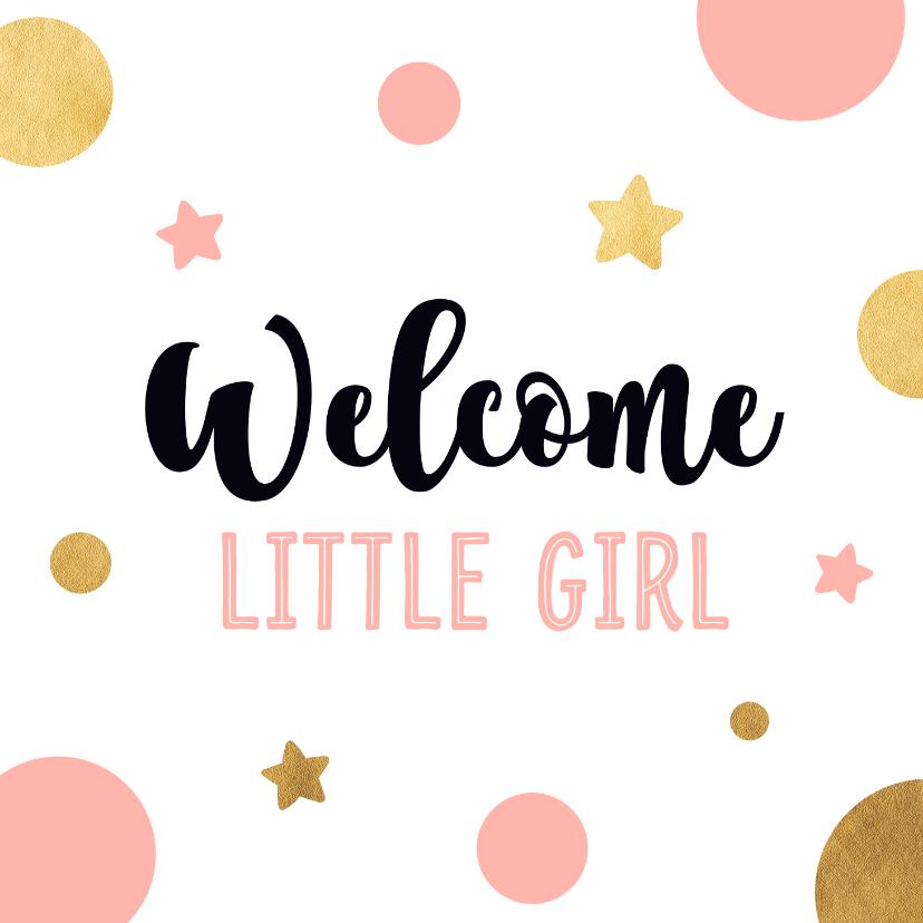 Felicitatiekaarten - Felicitatiekaart little girl