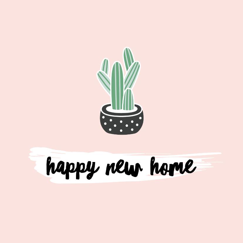 Felicitatiekaarten - Felicitatiekaart nieuwe woning - cactus - illustratie