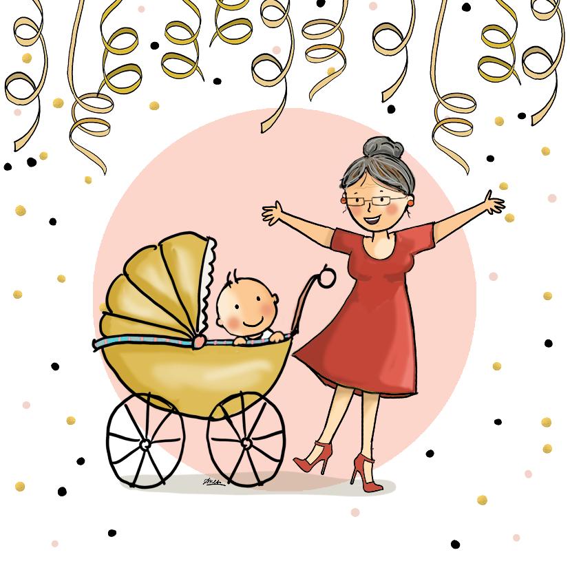 Felicitatiekaarten - Felicitatiekaart oma met baby