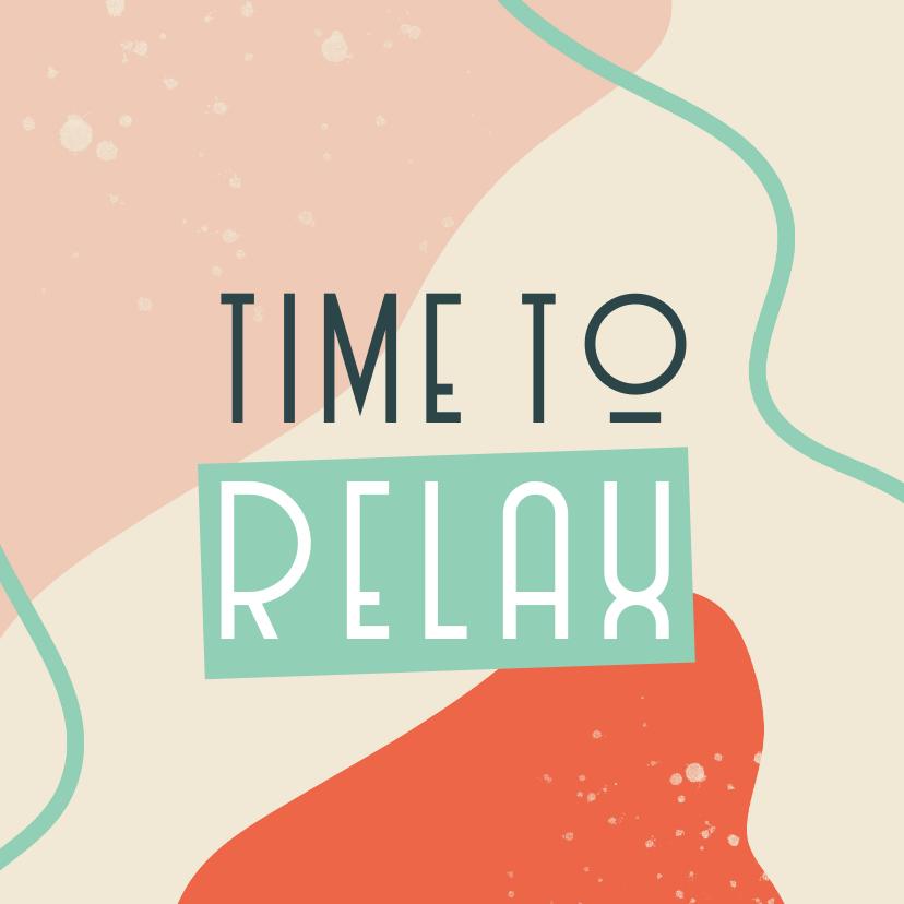 Felicitatiekaarten - Felicitatiekaart pensioen 'time to relax'