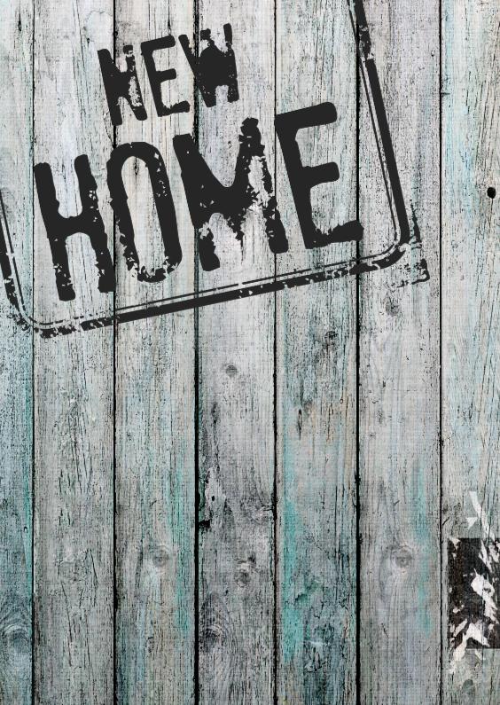 Felicitatiekaarten - Felicitatiekaart stempel new home