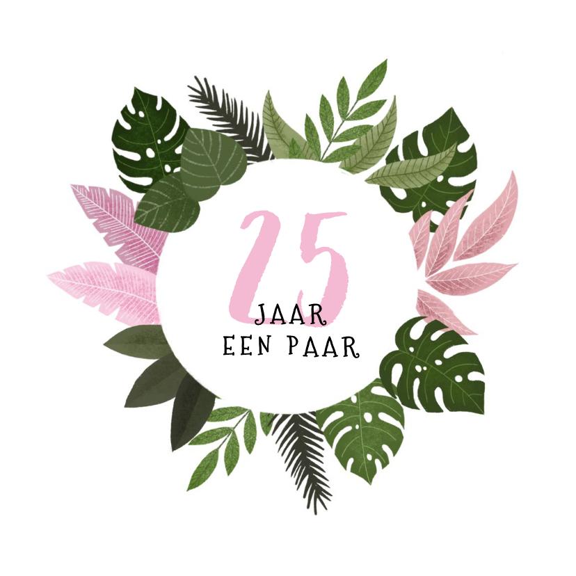 Felicitatiekaarten - Felicitatiekaart trouwjubileum met plantjes