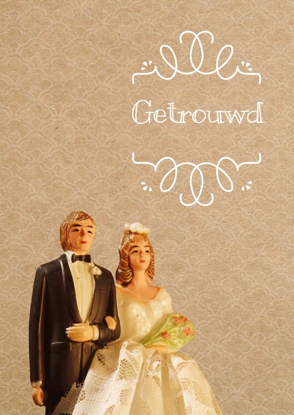 Felicitatiekaarten - Felicitatiekaart voor het gelukkige bruidspaar