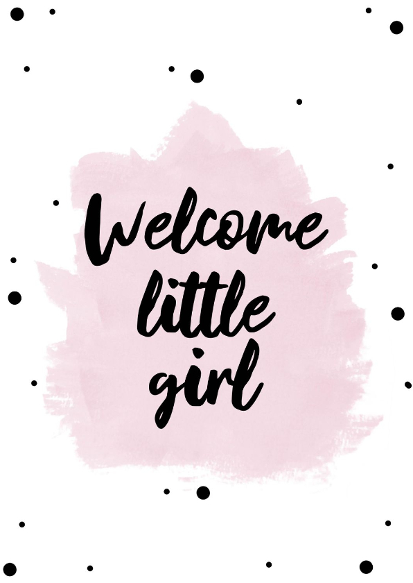 Felicitatiekaarten - Felicitatiekaart welcome little girl