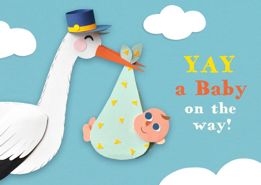 Felicitatiekaarten - Felicitatiekaart Yay baby on the way!