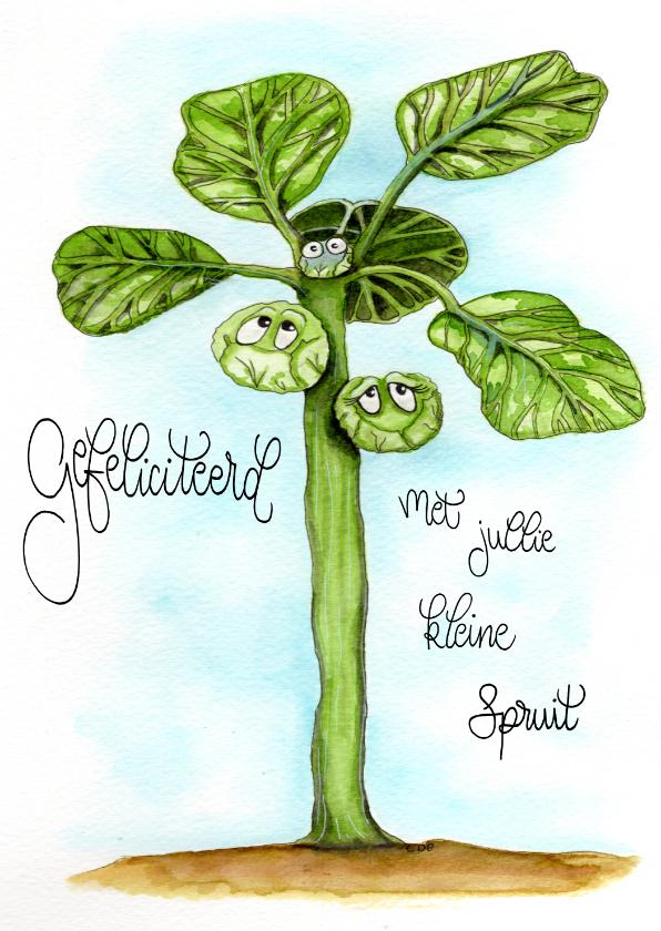 Felicitatiekaarten - Felicitatiekaarten kleine spruit geboren