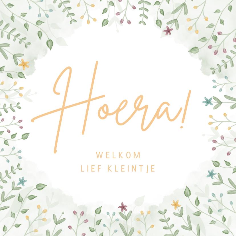 Felicitatiekaarten - Felicitatiekaartje geboorte hoera welkom lief kleintje
