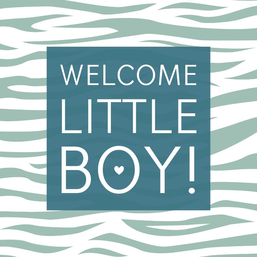 Felicitatiekaarten - Felicitatiekaartje tijgerprint groen geboorte jongen