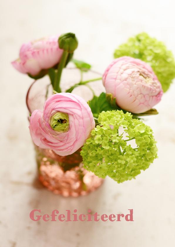 Felicitatiekaarten - Fotokaart bloemen