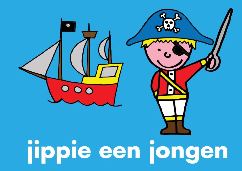 Felicitatiekaarten - Geboorte baby felicitatie piraat