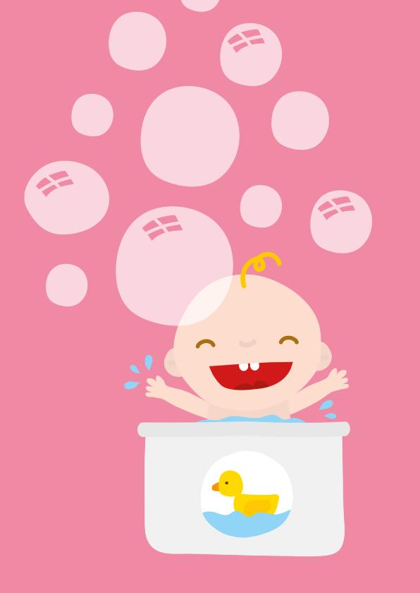 Felicitatiekaarten - Geboorte Babybadje en Eendje