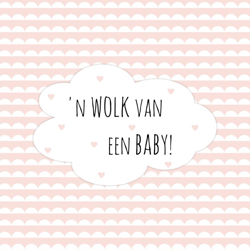 """Felicitatiekaarten - Geboorte Meisje """"Wolk"""" - WW"""