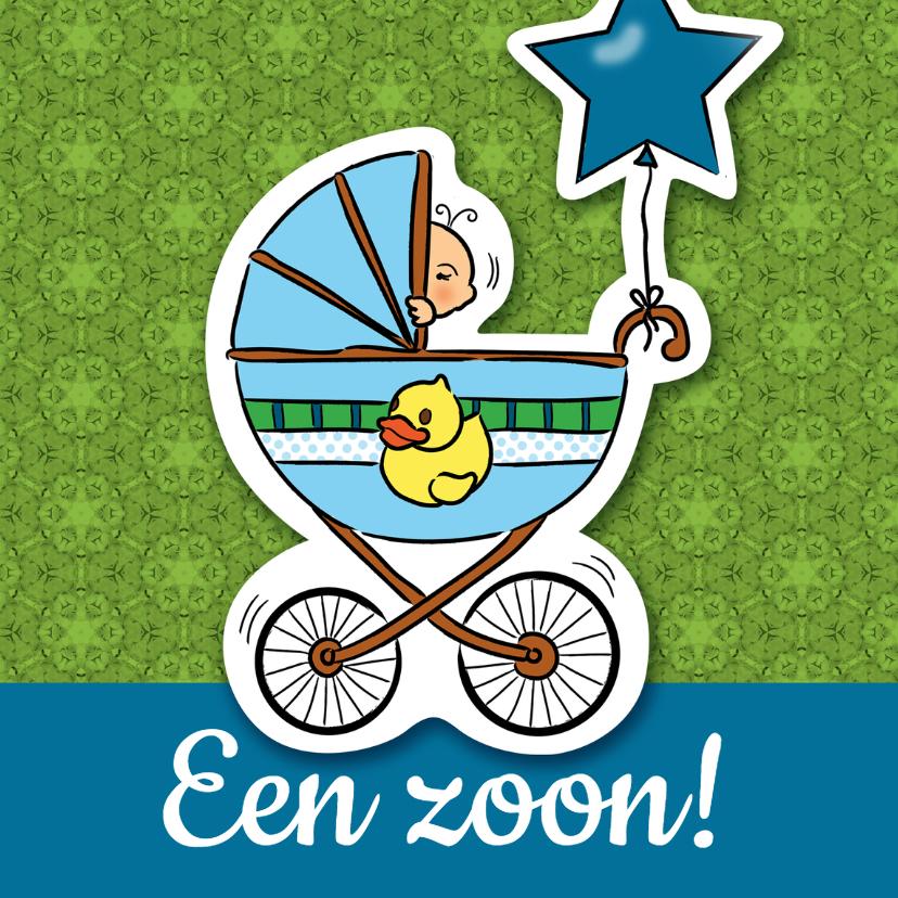 Felicitatiekaarten - Geboorte  zoon - kinderwagen