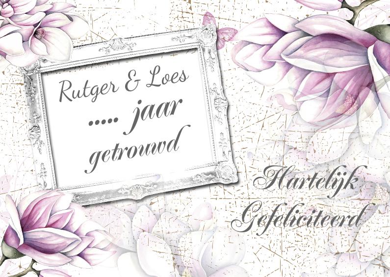 Felicitatiekaarten - Gefeliciteerd tulpen jubileum