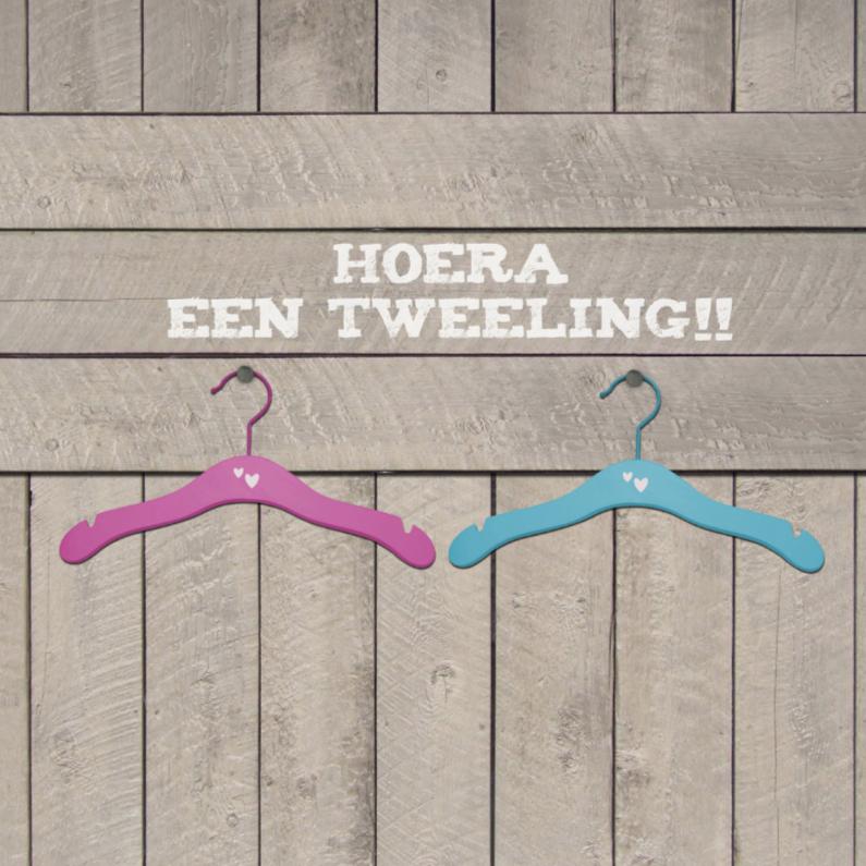 Felicitatiekaarten - Hanger Twins