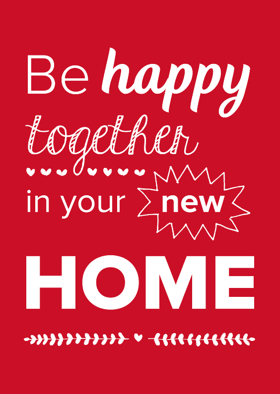 Felicitatiekaarten - Happy together new home