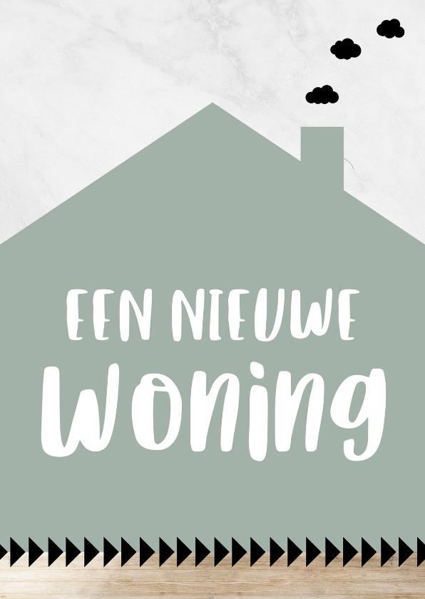 """Felicitatiekaarten - Hippe wenskaart """"Een nieuwe woning"""""""