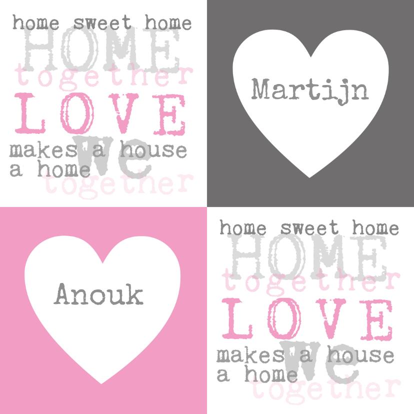 Felicitatiekaarten - Home Sweet Home Samenwonen