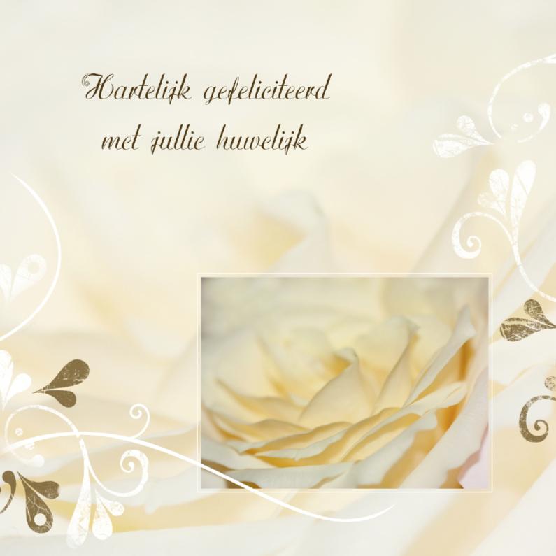 Felicitatiekaarten - Huwelijk met rozen