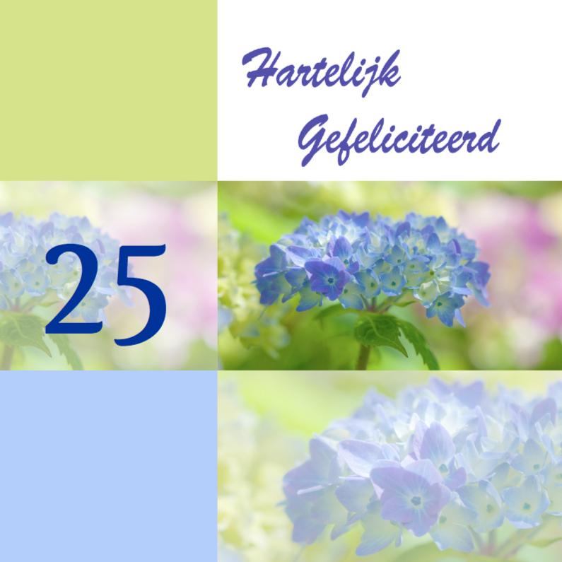 Felicitatiekaarten - Jubileum met hortensia