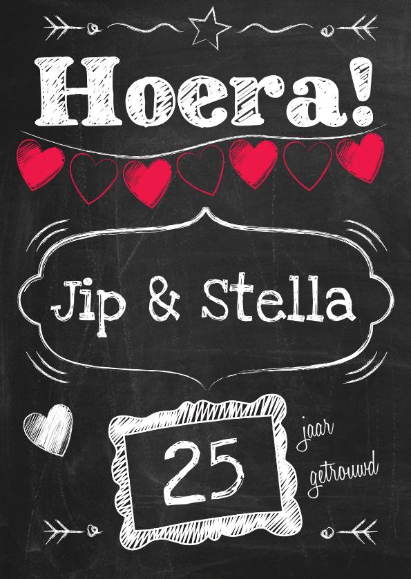 Felicitatiekaarten - Jubileum op schoolbord-ByF