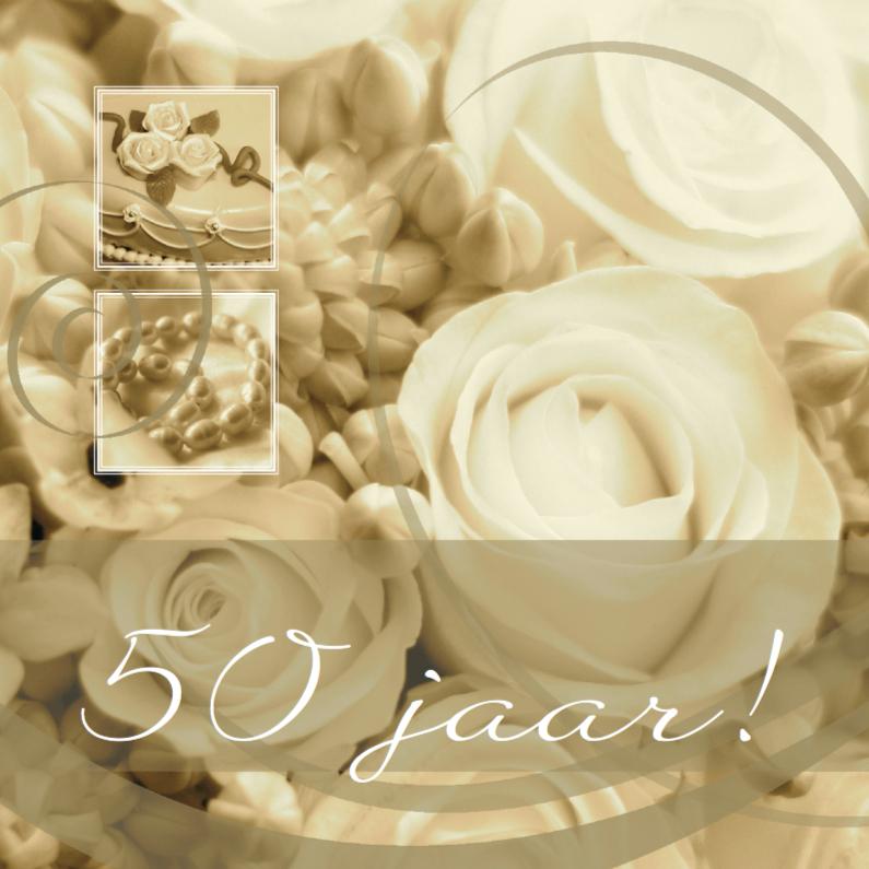 Felicitatiekaarten - jubileum vijftig tekst variabel