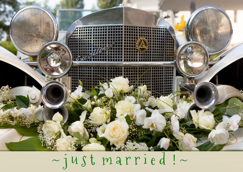 Felicitatiekaarten - just married, congratulations