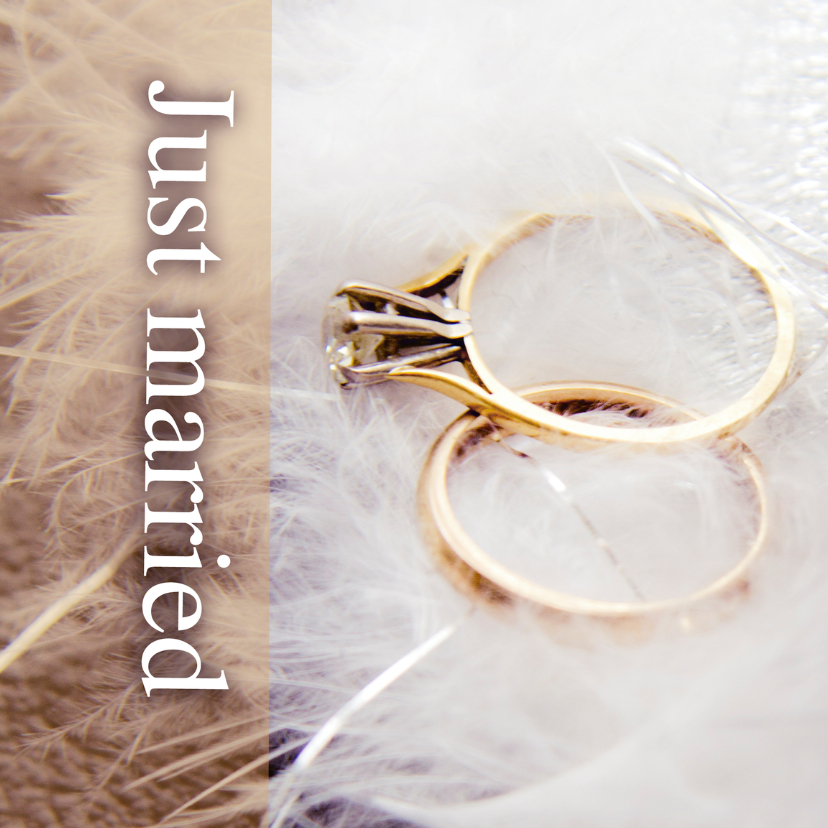 Felicitatiekaarten - Just married rings