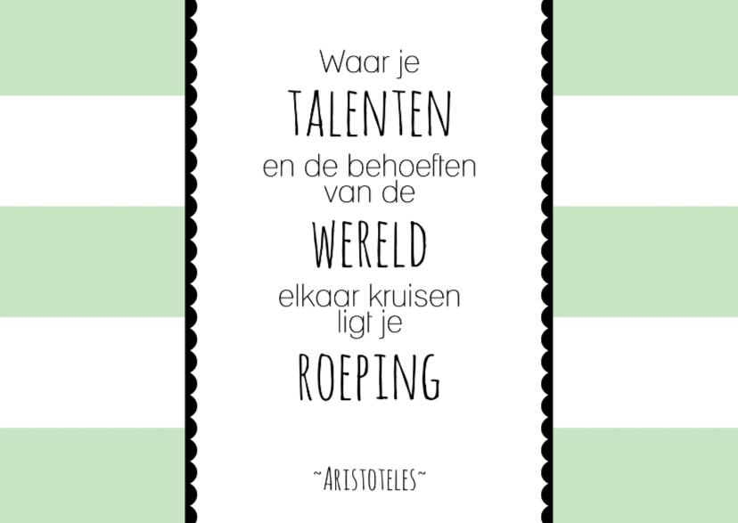 Felicitatiekaarten - Kaartje Nieuwe Baan Quote - WW