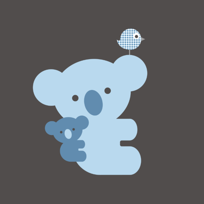 Felicitatiekaarten - Koala blauw