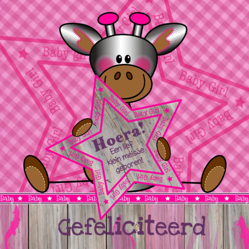 Felicitatiekaarten - Lief meisje GIRAFFE felicitatie